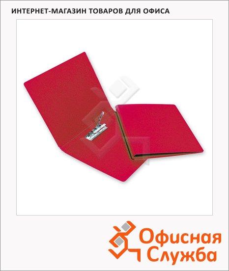 Папка пластиковая с зажимом Bantex Дания-Россия красная, А4, 1.9мм, 3301-09