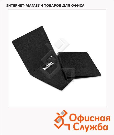 Папка пластиковая с зажимом Bantex Дания-Россия черная, А4, 3301-10