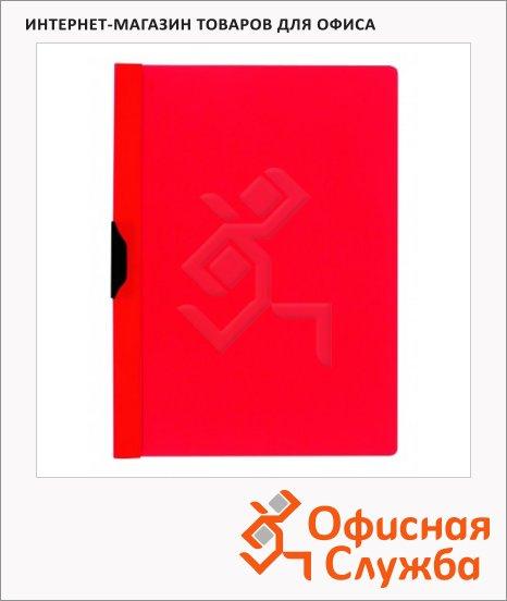 фото: Пластиковая папка с клипом красная А4, до 30 листов, 3260