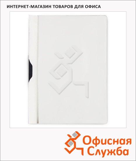 фото: Пластиковая папка с клипом Bantex белая А4, до 30 листов, 3260