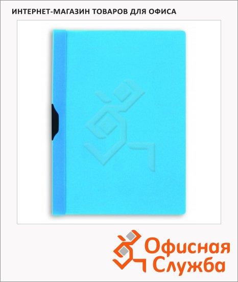 Пластиковая папка с клипом Bantex голубая, А4, до 30 листов, 3260