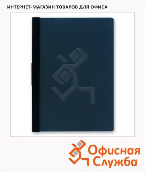 Пластиковая папка с клипом Bantex черная, А4, до 30 листов, 3260