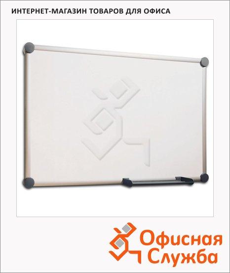 Доска магнитная маркерная Hebel 6301684 60х90см, лаковая, белая, алюминиевая рама, 6301684