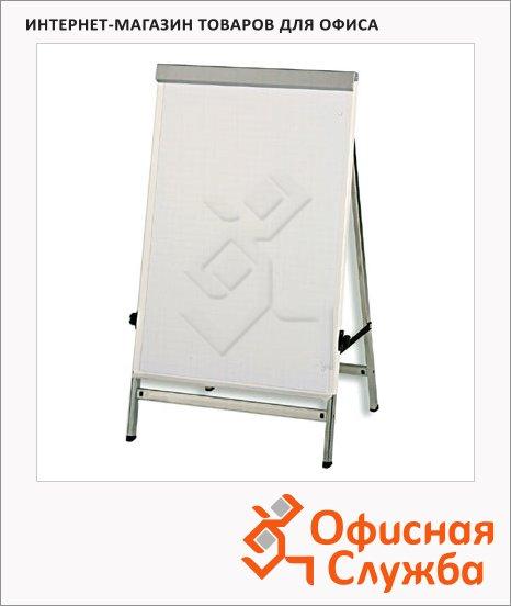Флипчарт магнитный маркерный Hebel Mobil 6374095 70х100см, белый, на подставке
