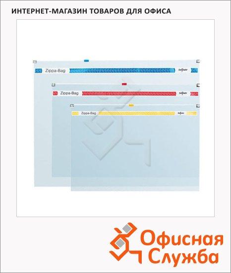 фото: Пластиковая папка на молнии Snopake Zippa-Bag прозрачная 180мкм, А5, K11448