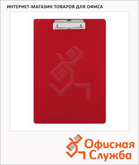 Клипборд без крышки Bantex красная, А4, 4201-09