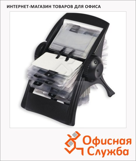 фото: Картотека для визиток Ico на 400 карточек черная, 195х165х185мм