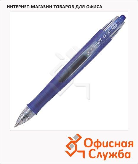 Ручка гелевая автоматическая Pilot BL-G6-5 AlfaGel синяя, 0.3мм
