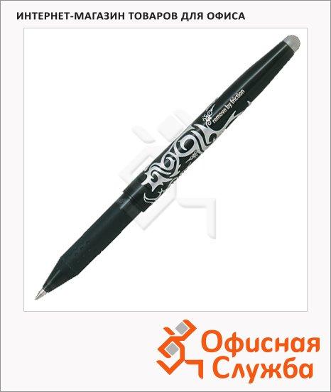 Ручка шариковая стираемая Pilot Frixion черная, 0.35мм, с ластиком, BL-FR7