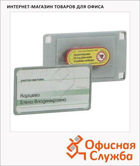 Бейдж магнитный Hebel 75х40 мм, 10 шт/уп