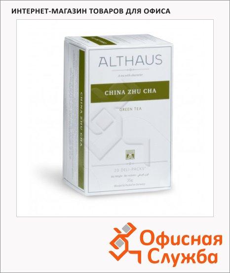 фото: Чай Althaus Gunpowder Zhu Cha зеленый, 20 пакетиков