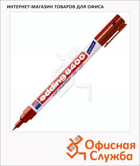 Маркер для CD перманентный Edding 8400 красный, 0.75мм, круглый наконечник