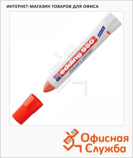 Маркер промышленный водостойкий Edding 950 красный, 10мм, круглый наконечник, на основе мастики