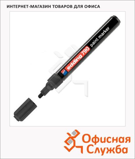 фото: Маркер лаковый Edding 790 черный 2-3мм, круглый наконечник, универсальный