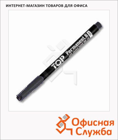 Маркер перманентный Ico Top B черный, 3мм, круглый наконечник