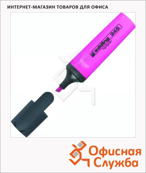 Текстовыделитель Edding 345 розовый, скошенный наконечник, 2-5мм