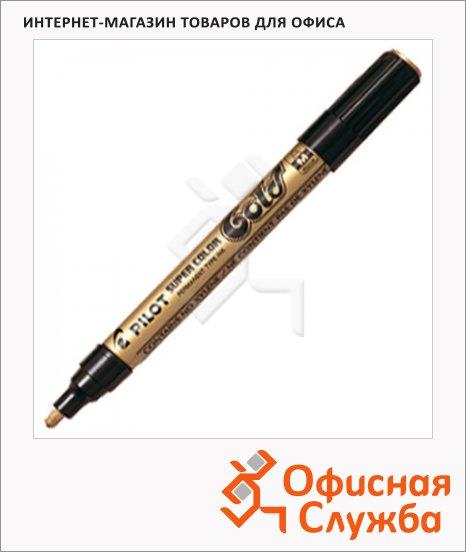 Маркер перманентный Pilot SC-W-M золотой, 2мм, круглый наконечник