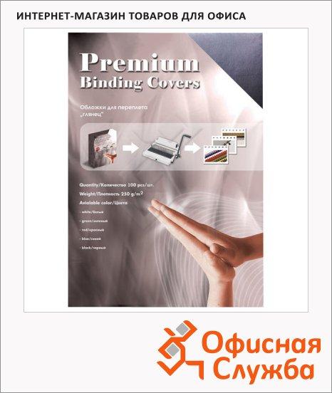 фото: Обложки для переплета картонные Office Kit GWA400250 черные А4, 250 г/кв.м, 100шт, GBKA400250