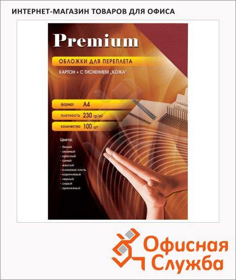 фото: Обложки для переплета картонные Office Kit CYA400235 красные А4, 230 г/кв.м, 100шт