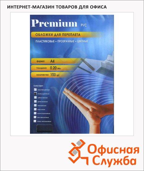 Обложки для переплета пластиковые Office Kit PYA400200 дымчатые, А4, 200 мкм, 100шт