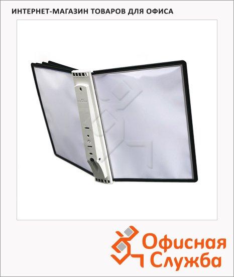Демосистема настенная Durable Sherpa 5 панелей, А4, черная, 5810-01