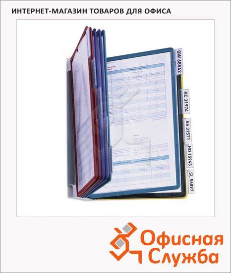 Демосистема настенная Durable Vario 10 панелей, А4, ассорти, 5567-00