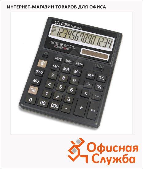 фото: Калькулятор настольный Citizen SDC-414 черный 14 разрядов