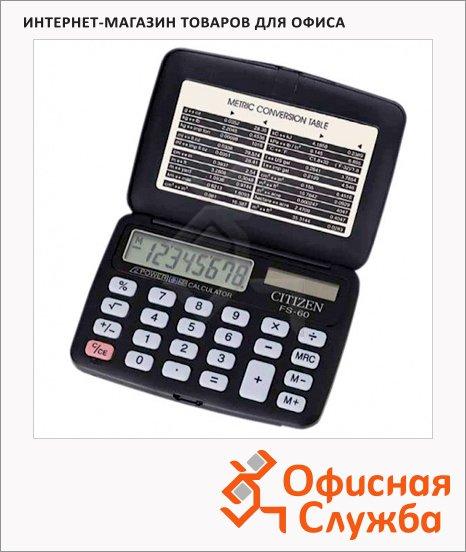 Калькулятор карманный Citizen FS-60BKII черный, 8 разрядов