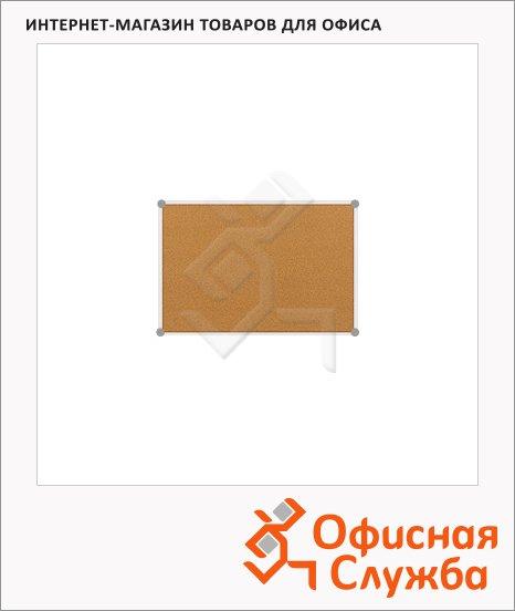 Доска пробковая Hebel 629 90х120см, коричневая, алюминиевая рама