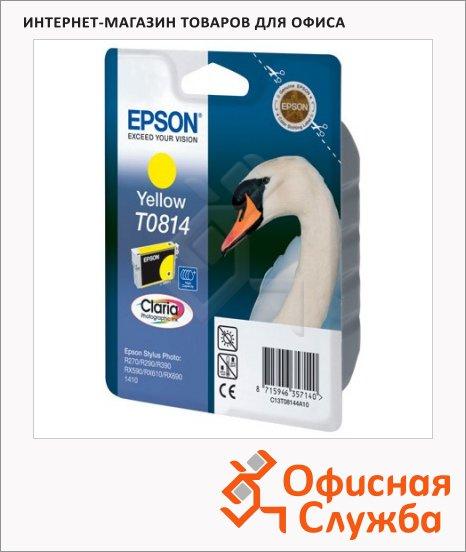 Картридж струйный Epson C13 T11144 A10, желтый