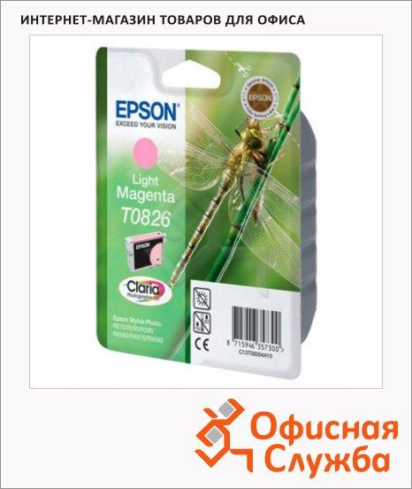 Картридж струйный Epson C13 T11214/24/34/44/54/64 A10 C13 T11264 A10, светло-пурпурный