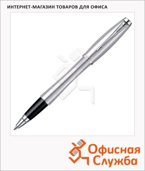 Ручка-роллер Parker Urban Т200 F, черная, хром корпус