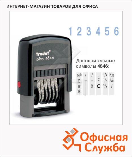 фото: Нумератор с автоматической оснасткой Trodat Printy 6 разрядов 4мм, 4846