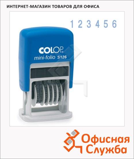 Нумератор с автоматической оснасткой Colop 6 разрядов, 3.8мм, S126