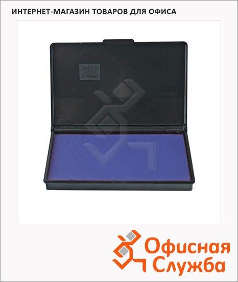 Штемпельная настольная подушка Trodat 90х50мм, краска на водной основе, синяя