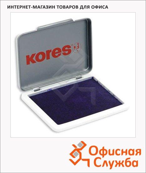 Штемпельная настольная подушка Kores 70х110мм, краска на водной основе, фиолетовая, металли