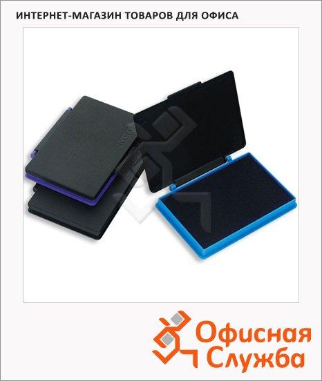 фото: Штемпельная настольная подушка Kores 70х110мм краска на водной основе, пластик, синяя