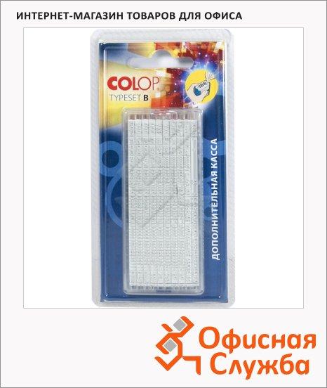 Касса русских букв цифр и символов Colop 320 символов, 2.2мм/3.1мм, Type Set B