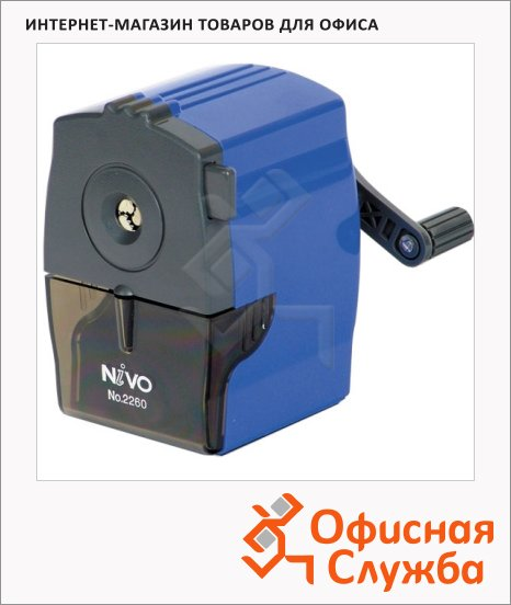 Точилка механическая Nivo 2260 1 отверстие, с контейнером, ассорти