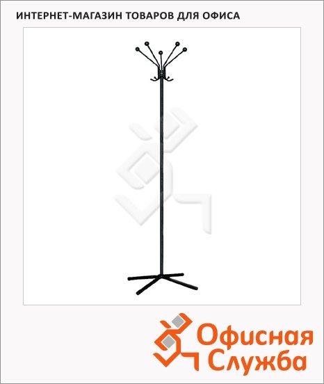 Вешалка-стойка напольная Титан ТХ N5, черная, 1800х455мм