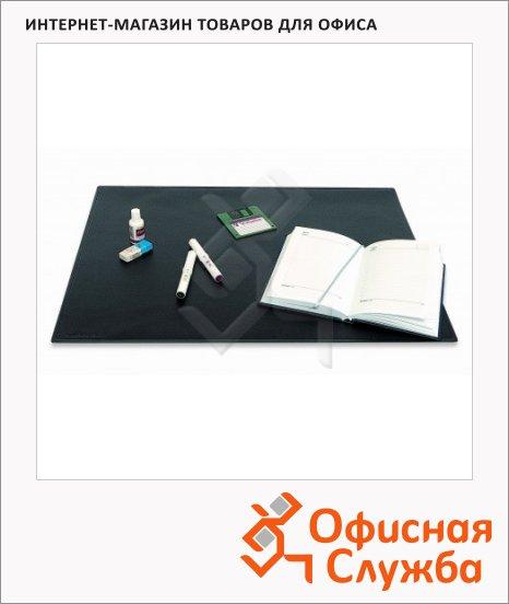 фото: Коврик настольный для письма Bantex 49х65см с карманом, черный, 413210