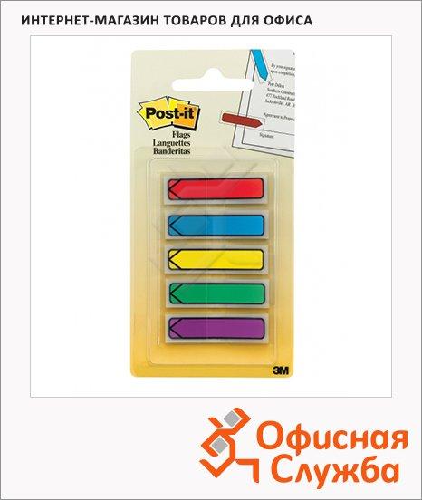 фото: Клейкие закладки пластиковые Post-It Professional 12х43мм 5цветов по 20 листов, в диспенсере, 684-ARR1