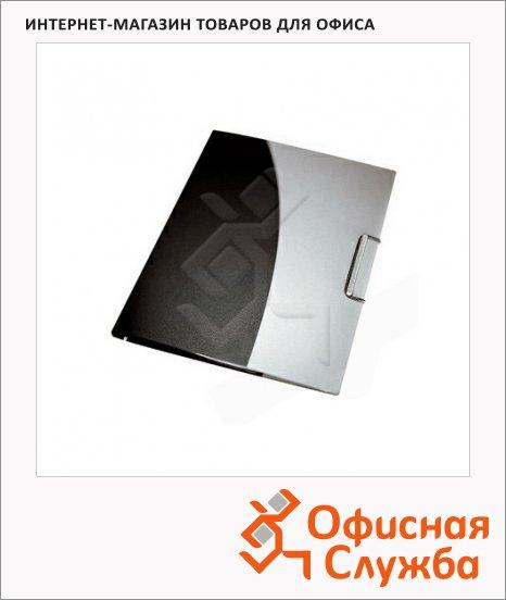 Пластиковая папка на резинке Leitz Essento черно-серая, A4, на 10 файлов, 45040089