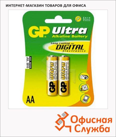 фото: Батарейка Ultra Alkaline Ultra 1.5В, AA/LR6/15AU, алкалиновые, 2шт./уп