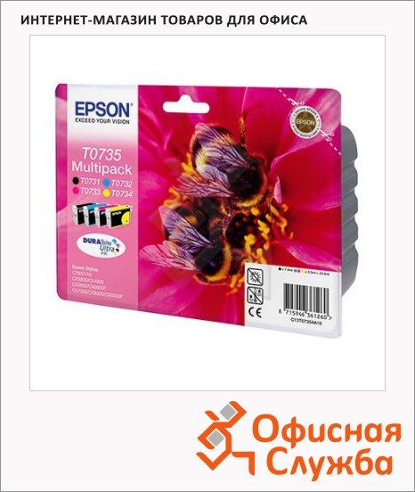 Картридж струйный Epson C13 T10554A10, 4 цвета, 4шт/уп