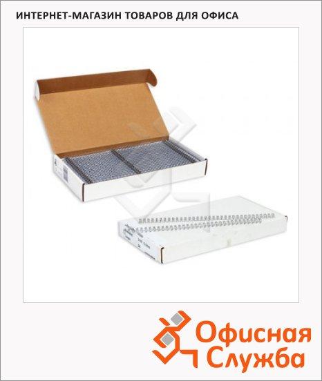 Пружины для переплета металлические Profioffice 70937, на 10-60 листов, 9.5мм, 100шт, серебристые