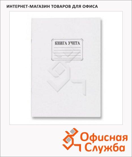 Книга учета А4, картон, 48 листов, в клетку