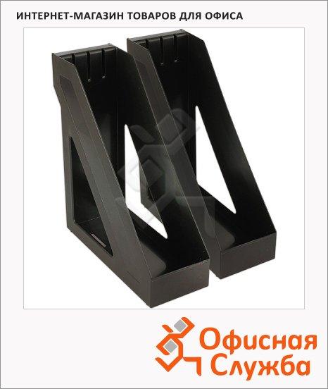 фото: Накопитель вертикальный для бумаг Стамм А4 100мм, 2шт, черный, ЛТ302