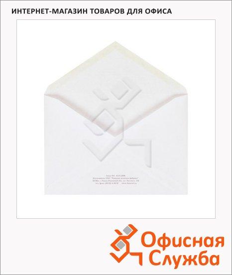Конверт почтовый Ряжск С6 белый, 114х162мм, 80г/м2, 1000шт, декстрин, Куда-Кому
