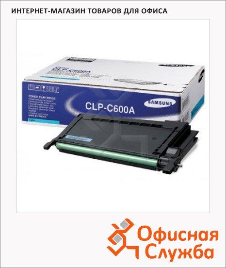 фото: Тонер-картридж Samsung CLP-C600A голубой